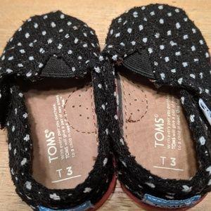 Toms baby girl shoes 3 toddler walker